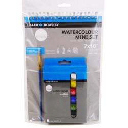 Set mini Art Aquarelles « Simply » Daler-Rowney 6 tubes 12 ml