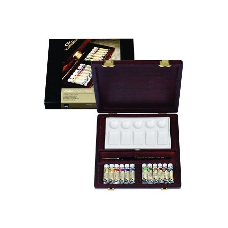 Coffret bois « Traditional » Rembrandt 12 tubes 5 ml