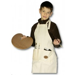 Tablier coton enfant beige Manet