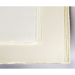 Feuilles Waterford 56x76 425g 10 f grain satiné extra blanc