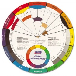Roue chromatique traditionnelle, guide de mélange 12 couleurs