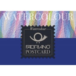 Bloc carte postale Fabriano Watercolour 10,5x14,8 300g 20 f grain fin