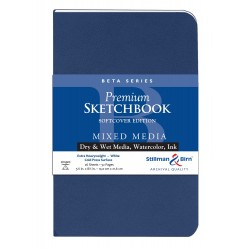 Carnet Stillman & Birn Beta softcover 21,6x14 26f 270g grain fin portrait