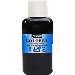 Cyan - Encre aquarelle Colorex 250ml Pébéo