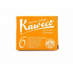 paquet de 6 cartouches d'encre Kaweco Orange