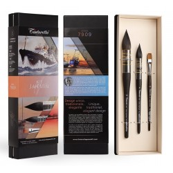 Kit Jan Min de 3 pinceaux aquarelle Tintoretto