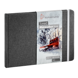 Toned Watercolour book Hahnemühle gris A6 paysage 200g 60 pages grain fin