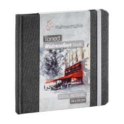 Toned Watercolour book Hahnemühle gris 14x14 paysage 200g 60 pages grain fin
