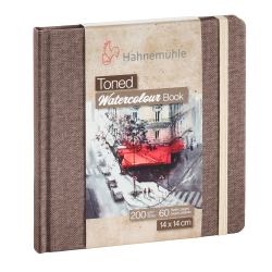 Toned Watercolour book Hahnemühle beige 14x14 paysage 200g 60 pages grain fin
