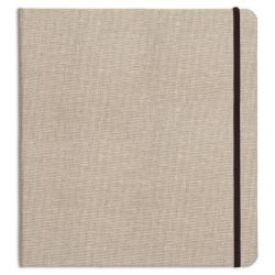 Goldline carnet toilé naturel 30x30cm 32F 180g Clairfontaine