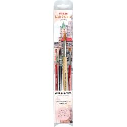 Set de 4 pinceaux Urban Watercolor journey par May et Berry de Da Vinci