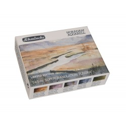 Coffret carton de 5 couleurs aquarelle en tube 5ml supergranulation Toundra Horodam de Schmincke