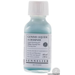 drawing gum coloré Sennelier flacon 250 ml